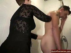 Brutto Olandese Nonna Scopa adolescente Ufficio