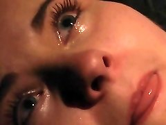 Orgasm and crying in agony in BDSM bondage