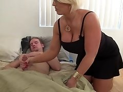 Super-steamy Amazon Blonde Milf Works One Out