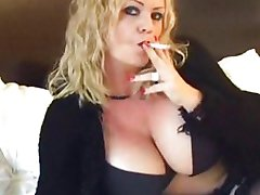 Heißen Reifen Cougar Rauchen und Banging