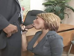 Satisfied with huge cock