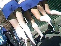 Cheerleaders Kelnaitės Upskirt
