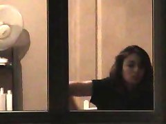 voyeur spycam catches busty neighbours exposed tits