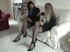Czarny pełni staromodne nylonowe pończochy, Fetysz stóp