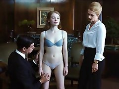 Sexy Emily Browning in bra & panties Cameltoe