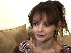 FRENCH CASTING n42 brunette babe in gang bang