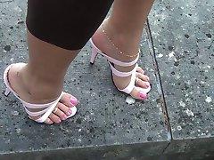Rosa høye hæler