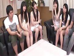 Unzensierte japanische Rasur Sitzung vor der Orgie