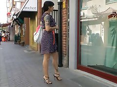 Vindu shopping i italiensk høy hæl sandaler