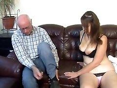 German grandpa makes young girl horny