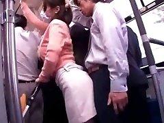Mlada Mamica Neradi javni Avtobusni Orgazem