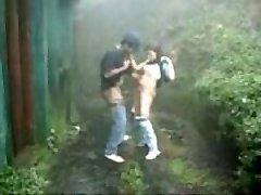 Desi Teen Archana sucking,Fucking Hard by BF in Moaning  in Rainy Garden