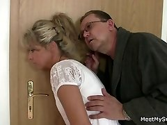 Parents tricks their son's GF into sex