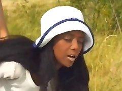Ebony Anal hottie