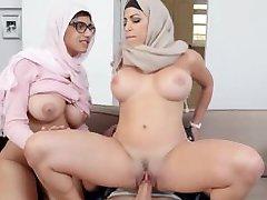 Mia Khalifa stepmom Juliana Vega fucks and sucks her daughters bf cock