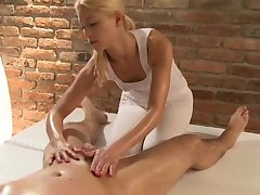 Massage Rooms Horny masseuse has a squirting orgasm as she rides client hard