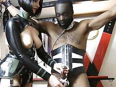 Matte med hennes favorit slav
