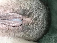 Slow creampie drip