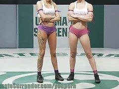 spartan nud wrestling!