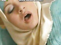 Hot Arab slut shows her fuck and suck skills.