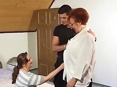 Guy fucks granny and MILF