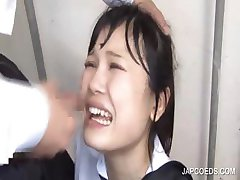 Facial cumshot with asian student