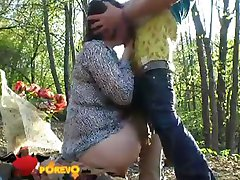 Sex in the woods with Natasha