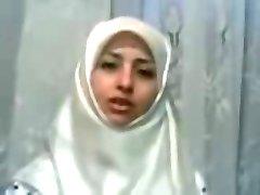 WHITE HIJAB CRAZY GIRL