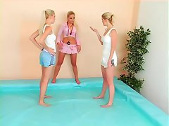 catfight in the pool