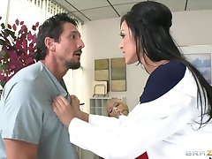 Hot Dr. Benson, a nympho dentist, fucks her assistant  his fianc