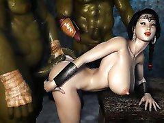 Kötü Canavarlar 3D bir Prenses canı cehenneme!