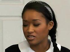 Sıcak Siyah kız öğrenci öğretmen tarafından çarptım