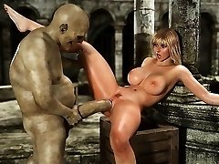 3 Dimensional Big-boobed Girls Used by Orcs and Minautors!
