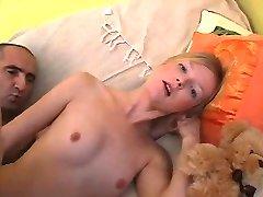 OLD MAN AND TEEN n11 blonde hairy teen