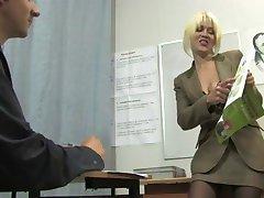 Russian Student Fucks Teacher