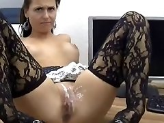 Sexy Honey Gets Ass Fucking And Pussy Covered In Jizz !