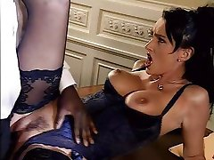 brunette in lingerie take a black cock in ass anal troia takes hard cock in the ass all the way tits