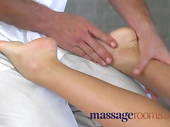 Massage Rooms Hot young girls leg and foot massage orgasm