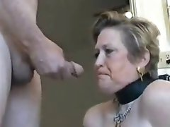 She Deep Throats a Large Cock