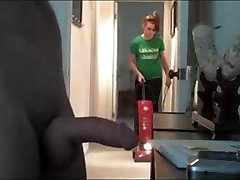 Flashing the cleaning girl