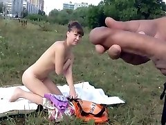 Dickflash - Cum en frente de chicas desnudas (720P versión)