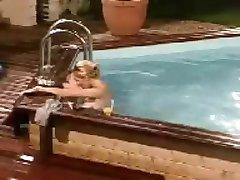 Loana (blonde, french, hot, reality tv, swimming pool)