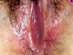 Wet pussy juice solo