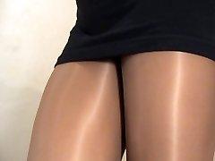 crossdresser stockings dark-hued