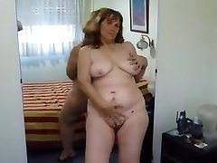 Unwrap show and taunting from my mature BBW wife
