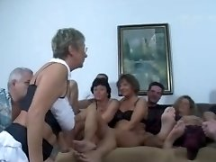 German Mature Swingers Shag Party