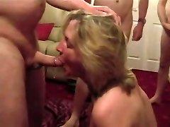 Cumslut wife sucks a pile of boys