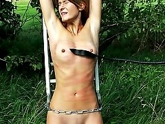 Crazy pussy and tit whipping