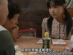 Asian Babe in Gangbang fuckfest