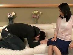 Lustful Japanese mom has a junior guy satisfying her sexual fantasies